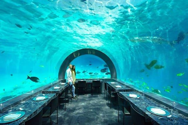 Il ristorante alle Maldive dello chef Andrea Berton